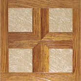 "Paramount 16"" x 16"" Vinyl Woodtone / Taupe Marble Tiles (Set of 6)"