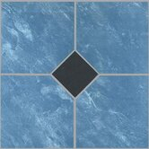 Vinyl Blue Marble / Black Diamond Floor Tile (Set of 30)