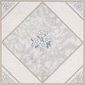 Vinyl White Flower Floor Tile (Set of 20)