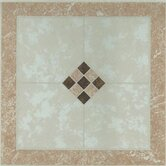 Vinyl Small Checkerboard Floor Tile (Set of 20)