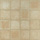 Vinyl Crème Marble Cubism Floor Tile (Set of 45)