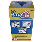 85 Count White Scott® Rags In-A-Box 75240