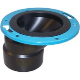 "4"" x 3"" ABS Offset Closet Flange with Metal Ring"