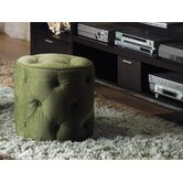 Curves Fabric Ottoman