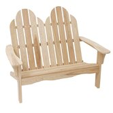 Cypress Adirondack Wood Garden Bench