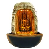 Buddha Resin Tabletop Fountain with LED Light