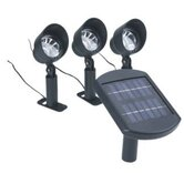 Super Bright Solar Led Lights in Plastic (Set of 3)
