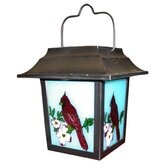 Solar Cardinal Lantern with White Led Lights