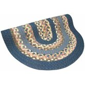 Minuteman Blue Solids with Blue & Mauve Tones Multi Rug