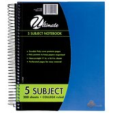 8.5&quot; x 11&quot; 5-Subject Notebook