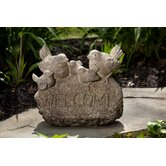 Bird Welcome Garden Stone