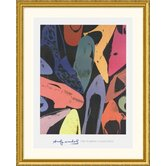 Diamond Dust Shoes, 1980  Gold Framed Print - Andy Warhol