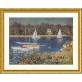 Bassin d'Argenteuil, 1872 Gold Framed Print - Claude Monet