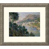 Monte Carlo, View of Cape Martin (Monte Carlo, Vue de Cap Martin) Silver Framed Print - Claude Monet