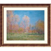 Spring in Giverny, 1890  Bronze Framed Print - Claude Monet