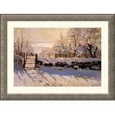 The Magpie, 1869 Silver Framed Print - Claude Monet