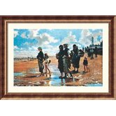 Oyster Gatherers of Cancale, 1878 Bronze Framed Print - John Singer Sargent