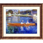 The Seine at Asnieres Bronze Framed Print - Pierre Auguste Renoir