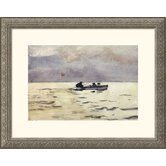 Rowing Home Silver Framed Print - Winslow Homer