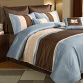 Maxwell Blue / Brown 8 Piece Comforter Set