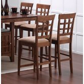 Hartsel 24&quot; Wheat Back Bar Stool in Walnut