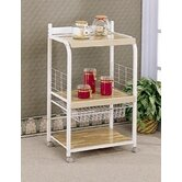 Hayden Kitchen Cart with Wood Top