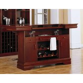 Tiernan Bar Table with Footrest in Cherry