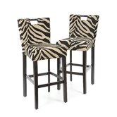 Holiday Lakes Barstool in Zebra Print