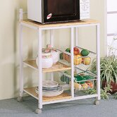 Lake Havasu Microwave Cart with Wood Top
