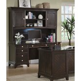 Doyle Credenza Desk with Hutch