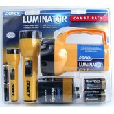 6 Volt 2D and AA Cell Luminator® Flashlight Combination Pac