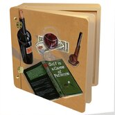 Home and Garden Wine and Spirits Good Book, Good Wine Memory Photo Album