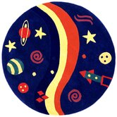 Playful Space Explorer Kids Rug