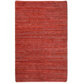 Matador Leather Chindi Red Rug