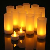 Tealights and Acrylic Holders (Set of 12)