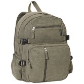 "16.5"" Cotton Canvas Backpack"