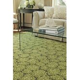 Geometric Florals Hydrangea Lime Light Modern Rug