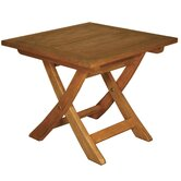 Terrace Mates Aspen Folding Square Side Table