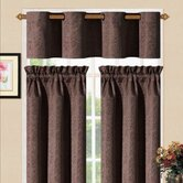 Sensations Grommet Kitchen Curtain Set in Chocolate