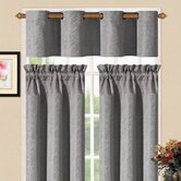 Sensations Grommet Kitchen Curtain Set in Platinum