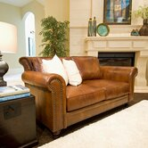 Paladia Leather Loveseat