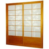 Bamboo Tree Shoji Sliding Door Kit in Honey