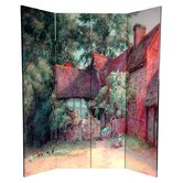 6Feet Tall Double Sided Farm Life Canvas Room Divider