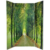 6 Feet Tall Double Sided Path of Life Canvas Room Divider