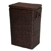 Rush Grass Laundry Basket in Red Brown