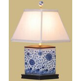 "16"" Vase Lamp in Blue and White"