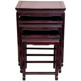 Oriental Furniture Nesting Tables
