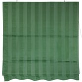 "60"" Striped Roman Retractable Blinds in Soft Green"