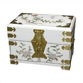 Chinese Daisy Jewelry Box With Mirror