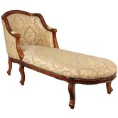Queen Anne Fabric Chaise Lounge